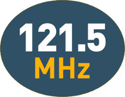 121.5MHz transmission for homing