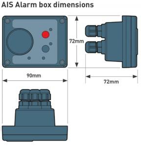 AIS Alarm dimensions