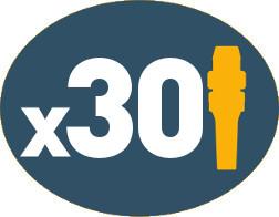 Programable con hasta 30 números MMSI de dispositivos individuales